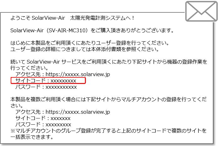 認証情報メール